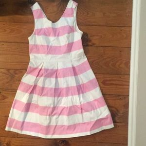 Never been worn - White and pink striped dress